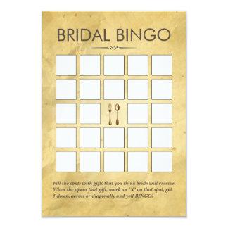 Vintage Dining Tools Bridal Shower Bingo Cards