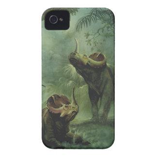 Vintage Dinosaurs, Centrosaurus in the Jungle iPhone 4 Case-Mate Case