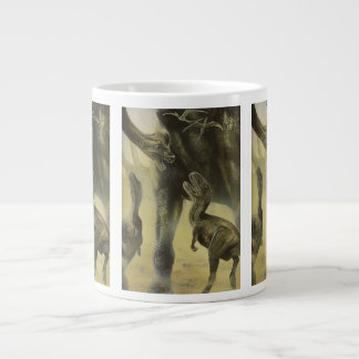 Vintage Dinosaurs, Torvosaurus and Brachiosaurus Large Coffee Mug