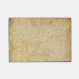 Vintage dirty parchment paper post-it notes