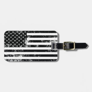 Vintage Distressed American Flag Luggage Tag