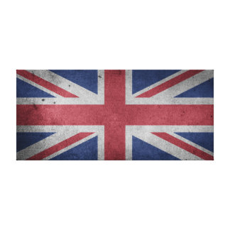 Vintage Distressed Cross Flag of Great Britain Canvas Print