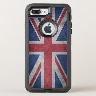 Vintage Distressed Cross Flag of Great Britain OtterBox Defender iPhone 8 Plus/7 Plus Case