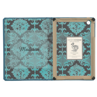 Vintage Distressed Damask with Name iPad Mini Retina Case