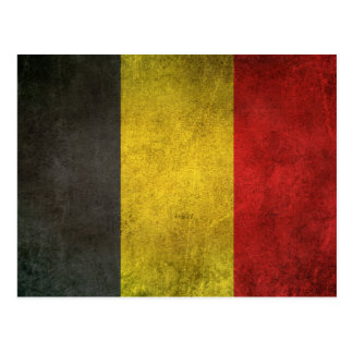 Vintage Distressed Flag of Belgium Postcard