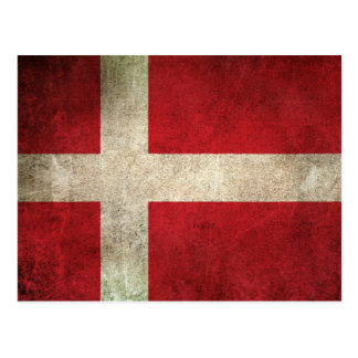 Vintage Distressed Flag of Denmark Postcard