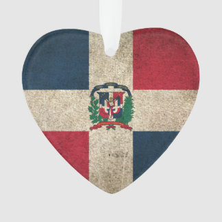 Vintage Distressed Flag of Dominican Republic Ornament