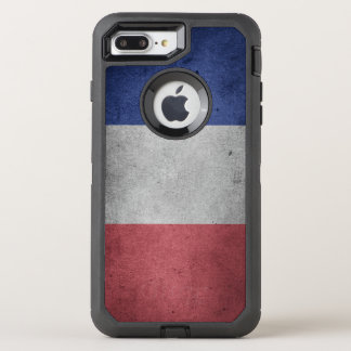 Vintage Distressed Flag of France OtterBox Defender iPhone 8 Plus/7 Plus Case