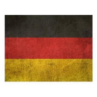 Vintage Distressed Flag of Germany Postcard