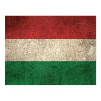 Vintage Distressed Flag of Hungary Postcard