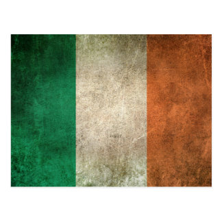 Vintage Distressed Flag of Ireland Postcard