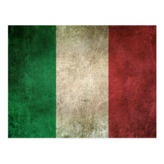 Vintage Distressed Flag of Italy Postcard