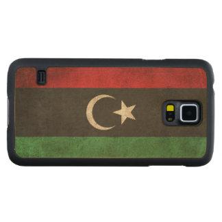 Vintage Distressed Flag of Libya Maple Galaxy S5 Slim Case