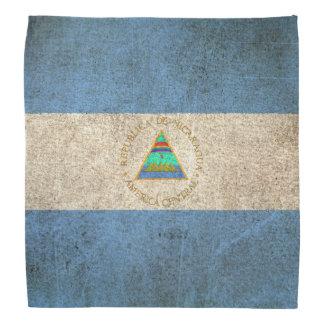 Vintage Distressed Flag of Nicaragua Bandana