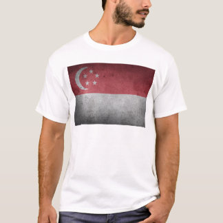 Vintage Distressed Flag of Singapore T-Shirt