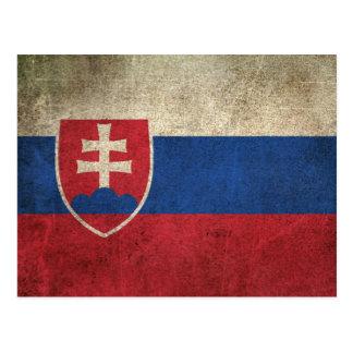 Vintage Distressed Flag of Slovakia Postcard