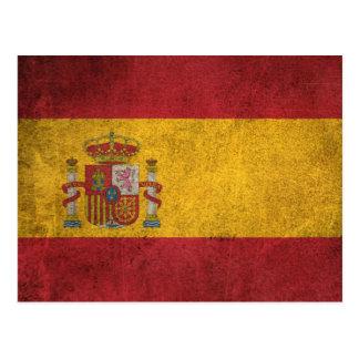 Vintage Distressed Flag of Spain Postcard