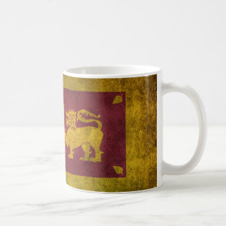 Vintage Distressed Flag of Sri Lanka Coffee Mug