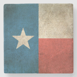 Vintage Distressed Flag of Texas Stone Coaster