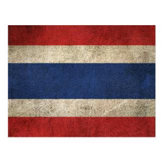 Vintage Distressed Flag of Thailand Postcard