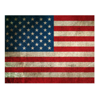 Vintage Distressed Flag of The United States Postcard