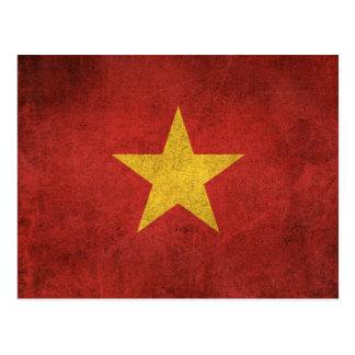 Vintage Distressed Flag of Vietnam Postcard