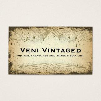 Vintage Distressed Floral Business Cards