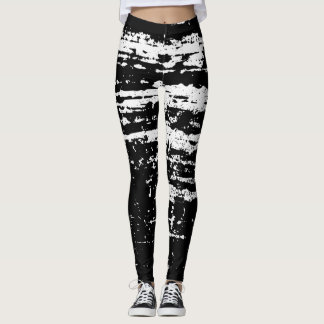Vintage distressed leggings for sport fitness gym