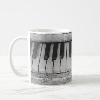 Vintage Distressed Piano Keyboard Mug