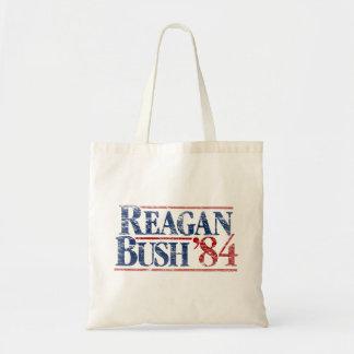 Vintage Distressed Reagan Bush '84 Campaign Bag