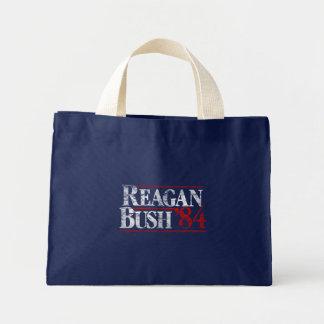 Vintage Distressed Reagan Bush '84 Campaign Tote Bag