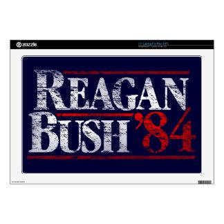 Vintage Distressed Reagan Bush '84 Skin For Laptop