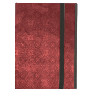 Vintage Distressed Red Pattern iPad Cover
