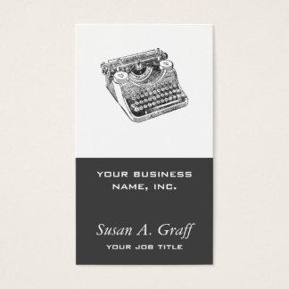 Vintage Distressed Underwood Typewriter Business Card