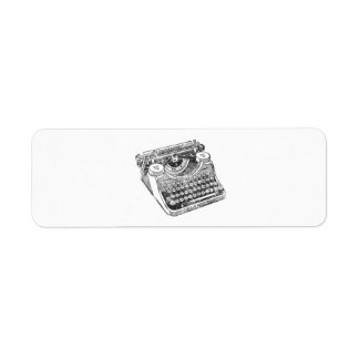Vintage Distressed Underwood Typewriter Return Address Label