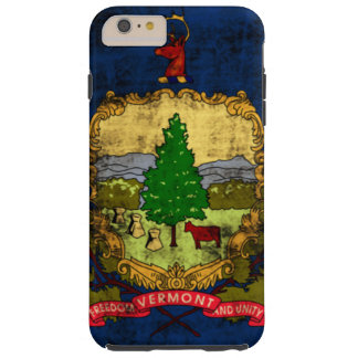 Vintage Distressed Vermont State Flag Tough iPhone 6 Plus Case