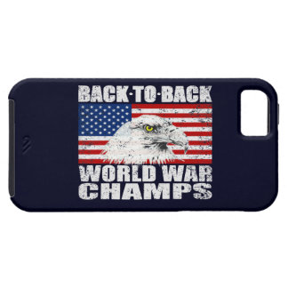 Vintage Distressed World War Champs iPhone 5 Case