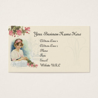 Vintage Diva & Roses Business Card