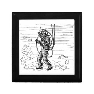Vintage Diver - ocean diving suit Gift Box
