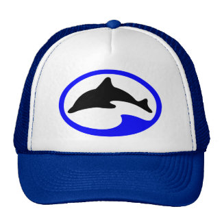 Vintage Divers Jumping Dolphin Ocean Hat