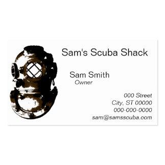 vintage diving helmet scuba beach ocean unique fun pack of standard business cards