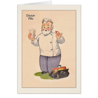 Vintage Doctor Get Well Card