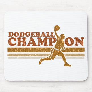 Vintage Dodgeball Champion Mouse Pad