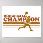 Vintage Dodgeball Champion Poster