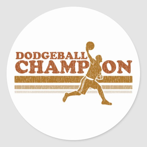 Vintage Dodgeball Champion Sticker