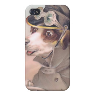Vintage Dog Chauffeur 4  iPhone 4/4S Cover