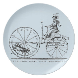 Vintage Dog Powered Bicycle Plate Weird Inventions
