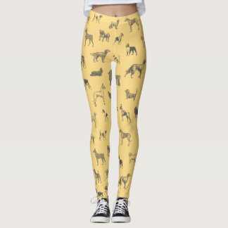 Vintage Dogs (Grey) Leggings