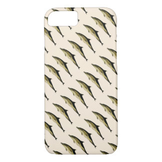 Vintage Dolphin, Marine Life Animals and Mammals iPhone 7 Case