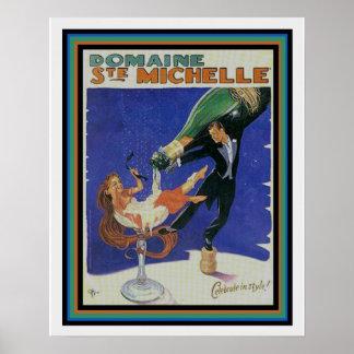 Vintage Domaine Ste Michelle Ad Print 16 x 20